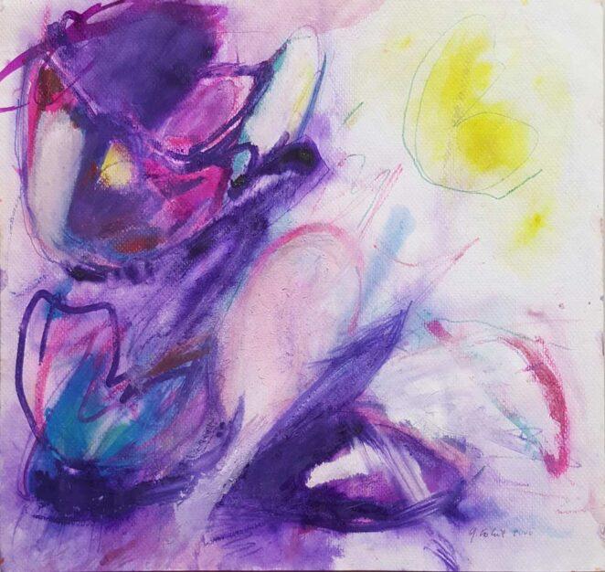 """quadro astratto di Gisela Robert """"Fiori"""""""