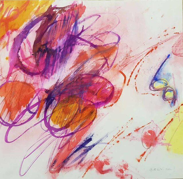 """dipinto astratto di Gisela Robert, """"Acquerello con gli occhiali"""""""