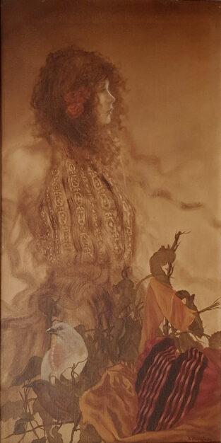 Dipinto ad olio su tela del pittore Antonio Napoletano raffigurante la Donna