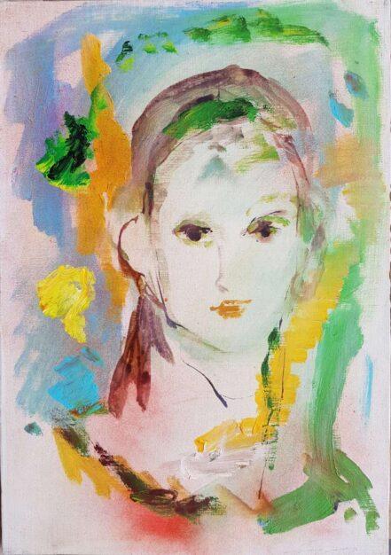 Dipinto del pittore Ernesto Treccani, Volto